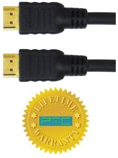 "PTC 20 ft Premium GOLD Series HDMI Cable with Ethernet - Supports 1080p, 1440p, 3D, 4K... by PTC. $17.99. HDMI HDMI with Ehternet is the newest HDMI Standard published recently by the HDMI org. - HDMI Ethernet Channel: Adds high speed networking to an HDMI link, allowing users to take full advantage of their IP enable device without a separate Ethernet cable. - Audio Return Channel: Allows an HDMI connected TV with a built in tuner to send audio data ""upstream"" to a surrou..."