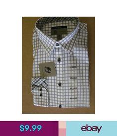 Dress Shirts Jbh Jhane Barnes Mens Slim Fit Dress Shirt Xl Purple White Plaid Nwt #ebay #Fashion