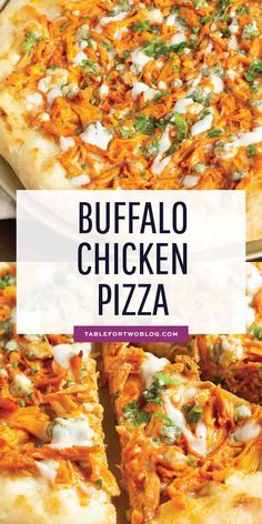 If you love buffalo chicken wings, then you will love this buffalo chicken pizza! The perfect alternative to have during game day if you don't want a bunch of messy hands around! Best Picture For pizza recipes arugula For Your Taste You a recipes gourmet Chicken Pizza Recipes, Buffalo Chicken Recipes, Healthy Pizza Recipes, Flatbread Pizza Recipes, Recipe For Pizza, Homemade Pizza Recipe, Healthy Homemade Pizza, Barbecue Chicken Pizza, Chicken Bacon Ranch Pizza