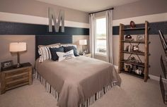 Highland homes boys bedroom paint, boy sports bedroom, kids bedroom boys, teen boy Boys Bedroom Paint, Kids Bedroom Boys, Boys Bedroom Decor, Trendy Bedroom, Boys Room Paint Ideas, Room Ideas, Boy Sports Bedroom, Teen Boy Rooms, Teenage Room
