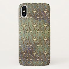 Elegant Chic Ornate Classy Antique Damask Pattern iPhone X Case - chic gifts diy elegant gift ideas personalize