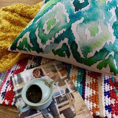 Summer Green Water Color Premium Cotton Linen Pillow Case