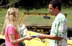 50 First Dates  This Groundhog Day-style romance plays on the fact that you'd have to be slightly brain damaged to want to date Adam Sandler...bizarre, but a treat for Sandler fans. Hollywood's funny man plays a love 'em and leave 'em type that happens upon Lucy (Barrymore), who, following an accident, has no short term memory. Fans of comedy romance will love this!