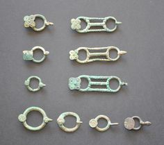 Amlash Bactrian bronze belt buckles, 1st millenium B.C. Private collection