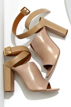 Behold the perfect open-toe nude strappy sandal #heels