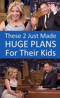 Elizabeth Banks and Jimmy Fallon just made HUGE plans for their kids. e35152d09b4