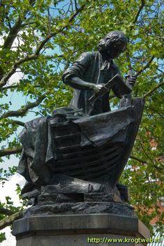 'Czaar Peter I leert den scheepsbouw in Zaandam', 1697 / Bronzen standbeeld / Léopold-Bernard Bernstamm (1859-1939) / Zaandam.