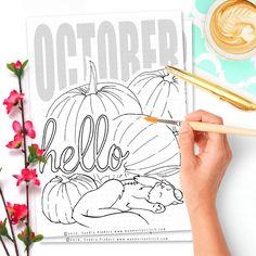 Free Printable Hello October Bullet Journal Spread - Wundertastisch