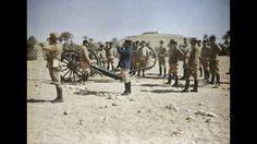 Pièce de 90 en action dans l'oasis  voyage en Tunisie, 24 mars 1916.