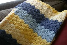 Ravelry: Speed Hook Shell Afghan pattern by Lion Brand Yarn -- worked with a large hook. awj