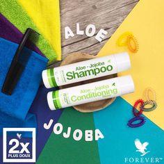 Uudistuneet Aloe Shampoo ja hoitoaine Aloe Vera Gel Forever, Forever Aloe, My Forever, Jojoba Shampoo, Shampoo And Conditioner, Forever Freedom, Aloe Drink, Forever Living Business, Forever Living Products