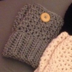 Light heather grey bootcuffs Hand crocheted bootcuffs with button detail. Color: Light heather grey. Can be made to order in any color. Made with red heart super soft yarn. Please request separate listing to buy! 1/$12 or 2/$20 Accessories