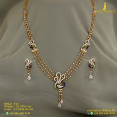 Gold 916 Premium Design Get in touch with us on Gold Bangles Design, Gold Earrings Designs, Gold Jewellery Design, Necklace Designs, Fancy Jewellery, Gold Necklace Simple, Long Pearl Necklaces, Gold Jewelry Simple, Jewelry Model