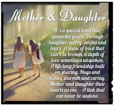 Mother & daughter quote