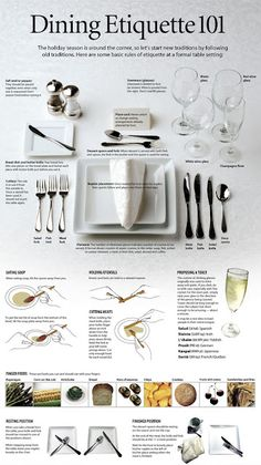Dining Etiquette 101, manners how to at the table