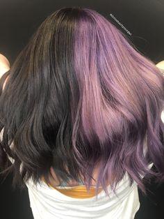 Purple Black Hair, Dyed Hair Purple, Lilac Hair, Hair Color Purple, Hair Dye Colors, Hair Color For Black Hair, Dying Hair Black, Pastel Hair, Green Hair