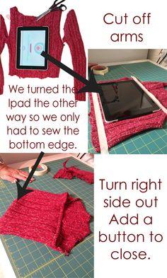 #Goodwill Sweater Ipad Cover DIY