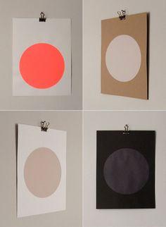 circle screenprints by sandra thompsen via Miss Moss