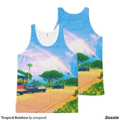 Tropical Rainbow All-Over Print Tank Tops from ZoeSPEAK.