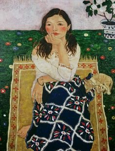Women in Painting by Xi Pan Chinese Artist Art And Illustration, Figure Painting, Painting & Drawing, Artist Painting, Xi Pan, She And Her Cat, Art Chinois, Art Asiatique, Art Design