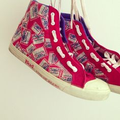 Vintage Budweiser High Tops from my own vintage collection b944ac0b53be