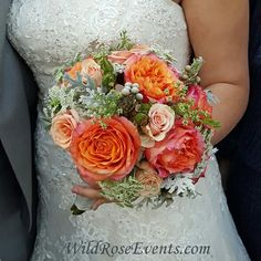 These amazing free spirit roses coupled with brunia berries, queen anns lace and tiffany roses is absolutely stunning. We love working with free spirit roses. They are huge and so striking. #bridalbouquet #wedding #dallasflorists #wildroseevents #ceremony #freespiritrose #tiffanyrose #berries www.wildroseevents.com