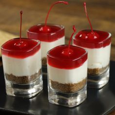 Having a party? Or just wanna treat yourself to something delicious? Whip up a batch ofCherry Cheesecake...