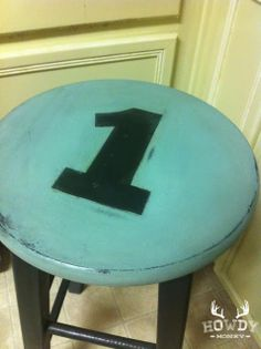 Paint bar stools with the numbers from Bama's jerseys.