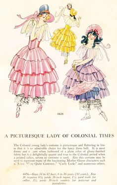 Glamour Kitty's Halloween Favorites: Masquerade costumes and patterns from the 1900s to 1930s