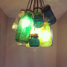 Make Your Own Mason Jar Chandeliers - Momcaster