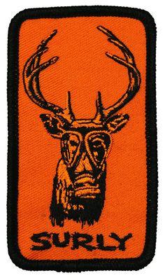 Surly Gasmask Deer Patch Image