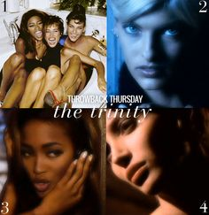 Throwback Thursday Trinity Supermodels-Linda, Christy, Naomi/George Michael Freedom Video