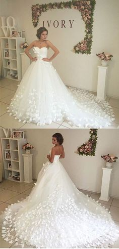 princess wedding dresses,ball gown wedding dresses,white wedding dresses,court train bridal gowns @simpledress2480
