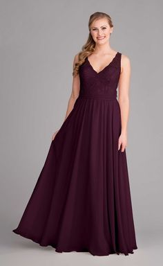 Size 6 long dresses eggplant