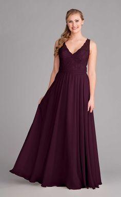 An eggplant purple bridesmaid dress that's perfect for fall weddings. | Kennedy Blue Sadie