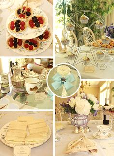 Downton Abbey Afternoon Tea Party.  Perfect for a Mother's Day party or a shower.  So pretty!!