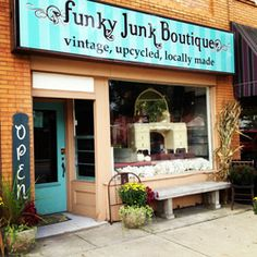 Funky Junk Boutique, vintage, up cycled and locally made, is run with great enthusiasm by Shell. The store is in Seville, Ohio.