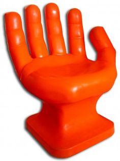 122 Original Pop Modern orange plastic hand chair on  sc 1 st  Pinterest : chair that looks like a hand - Cheerinfomania.Com