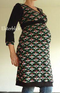 Elsterglück: Still-und Umstands-Kleid aus Jersey