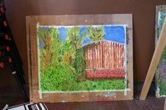 Olieverf # eerste probeersel # buiten schilderen
