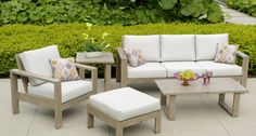 Grilling Terrace Seating area Will include 1 sofa, 2 chairs, 2 ottomans, 1 coffee, 2 end tables See fabric samples for colors