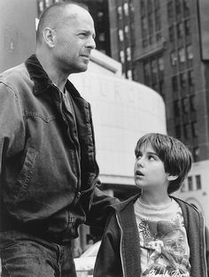 """Still of Bruce Willis and Miko Hughes in Mercury Rising THIS WAS A GREAT BRUCE WILLIS MOVIE.  HE HAS SO MUCH EASE WHEN ACTING OPPOSITE OF ACTORS CONSIDERED KIDS.  HE WAS GREAT IN """"THE SIXTH SENSE"""" ALSO."""