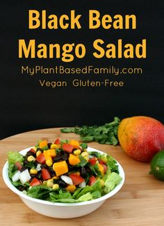 Black Bean Mango Salad is a plant-based (vegan) dream salad that is also gluten-free. It's great for a lunch salad or as part of a meal.