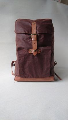 Backpack / Rucksack /  Waxed Canvas Backpack / Waxed Canvas Rucksack / Bike bag / Bicycle bag / Backpack / ReefKnot Day Pack 20l . by ReefKnotBags on Etsy