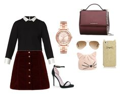 """""""Untitled #21"""" by elizbethcorrin on Polyvore featuring Maje, Boohoo, Givenchy, Kate Spade, Ray-Ban, Karl Lagerfeld and Michael Kors"""