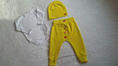 Žltý setik pre detičky s gombičkami 🙌😻