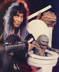 Remember that time when WASP rocked out with The Ghoulies? Ahhh the 80's...