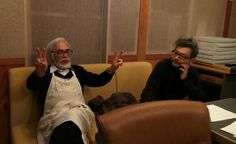 The two gods of animation : Hayao Miyazaki & Hideaki Anno Great Films, Good Movies, Living In Puerto Rico, Le Vent Se Leve, Isao Takahata, Hideaki Anno, Se Lever, The Third Man, Hayao Miyazaki