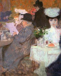 In a Cafe, 1904 ~ Karel Spillar ~ (Czech: 1871-1939)