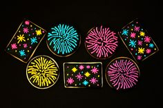 Firework Cookies (Fourth of July)
